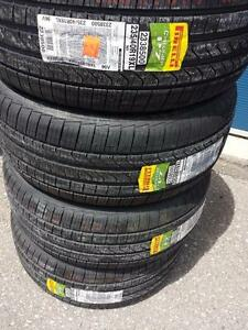 BRAND NEW WITH LABELS PIRELLI CINTURATO ULTRA HIGH PERFORMANCE ' V ' RATED 235 / 40 / 19 ALL SEASON TIRE SET OF FOUR.