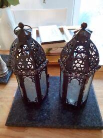 Moroccan style lanterns