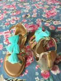Girls size 11 Monsoon sandals