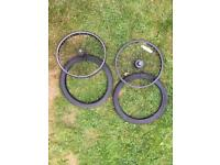 """Set of 20"""" BMX wheels and tyres"""