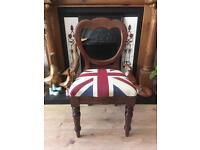 Solid Wood Union Jack Chairs