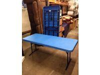 Pair of Blue Foldaway Tables