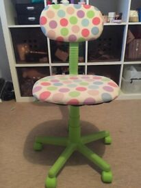 Child's Spotty Desk Chair - Perfect Condition