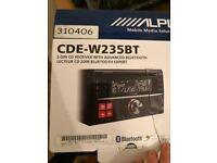 Alpine Cde‑w235bt Double Din Bluetooth