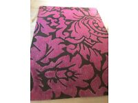 Large Pink & Black Wool Rug For Sale £100 plus P&P