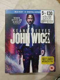 John Wick chapter 2 on blue ray