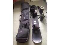 Snowboard set, used condition, not used myself, incl board, bag, boots, helmet