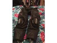 RST Razor Leather Motorbike Trousers