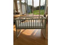 Classic White Rocking Crib/Cot with Mattress for sale