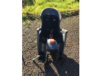 Hamax reclining bike seat with pannier bag.