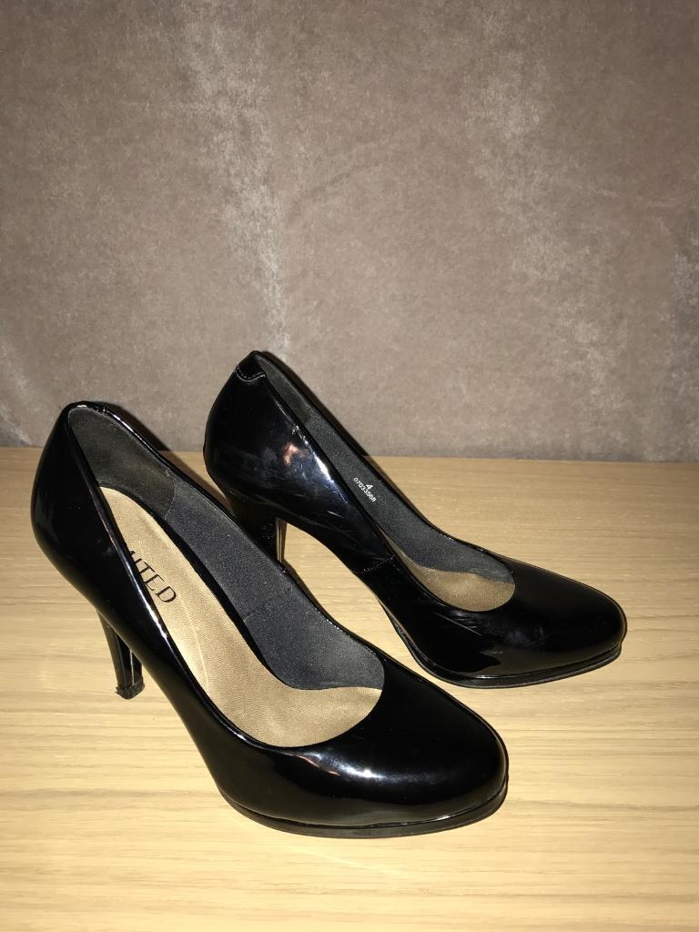 Size 4 Patent Black court shoe - M&S Limited Collection