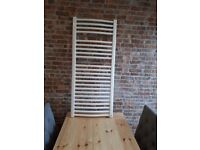 NEW £50 ONO - White Curved Tubed Heated Towel Radiator aprox 1150 X 500MM