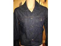 Rare Hugo Boss 50's style dark blue denim jacket (L) NEW. 42 Chest RRP £300.00