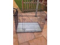 Large dog cage . still boxed 41 inches x 29 inches
