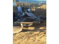 Car transporter trailer twin axel with Ramps