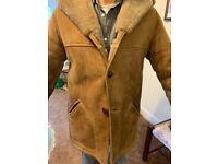 Genuine gentleman's large size sheepskin coat excellent condition
