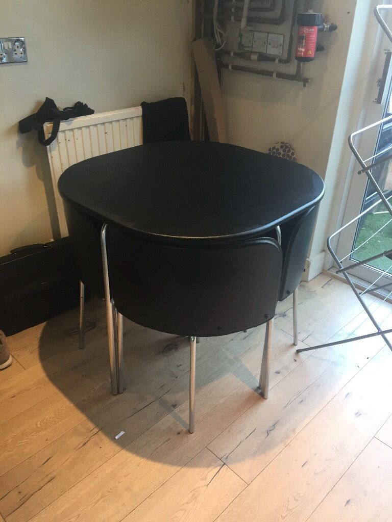 hygena space saving table and 4 chairs in hove east sussex