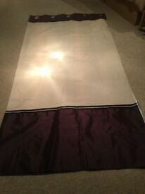 Faux silk fully lined curtains x 3 pairs. One large and two smaller pairs.