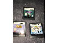 3 x Nintendo ds games