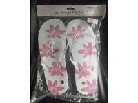 FLIP FLOPS JUST MARRIED NEW AND SEALED BARGAIN!