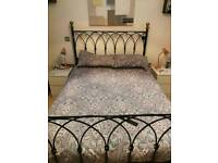 Cast iron double bed.