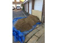 Free sand and gravel mix for patios