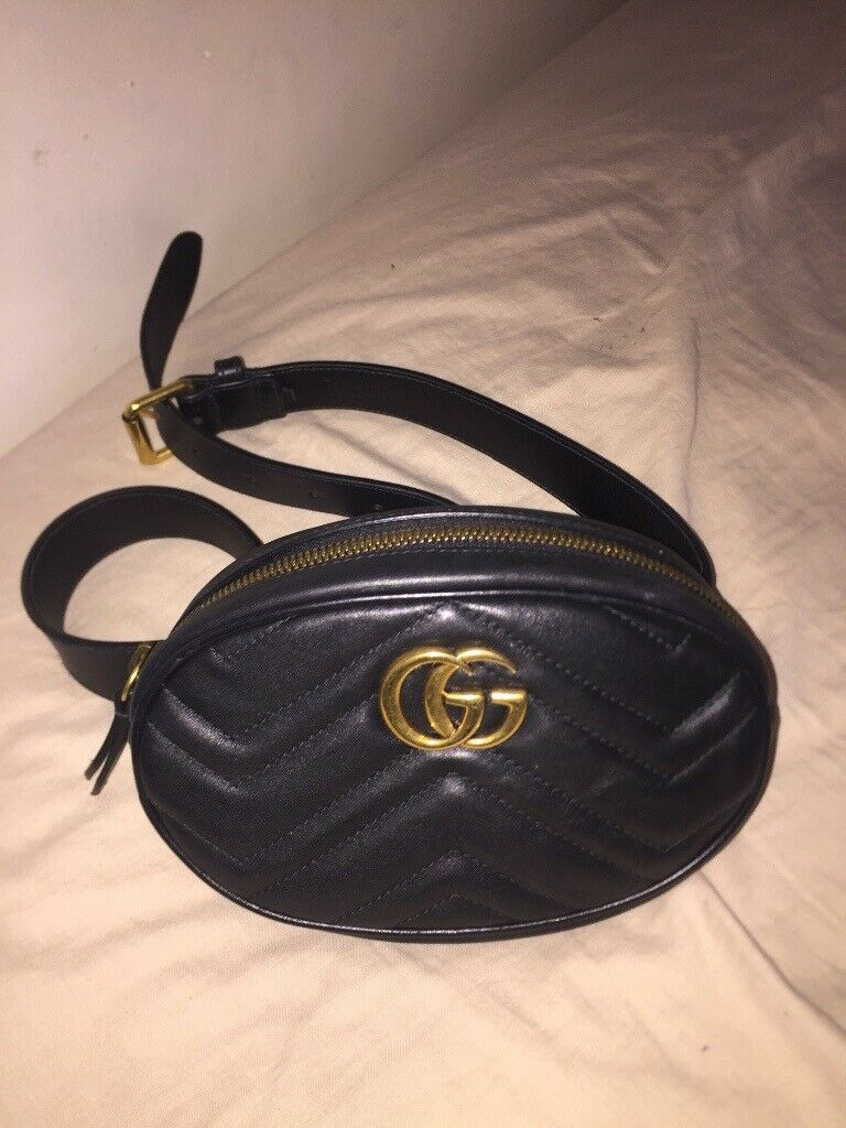 1a9d6042099 Authentic Gucci Marmout Belt Bag - Black - Women's (not Louis Vuitton,  Micheal Kors, Tom Ford) | in Ward End, West Midlands | Gumtree