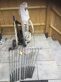 Full set of Penfold golf clubs