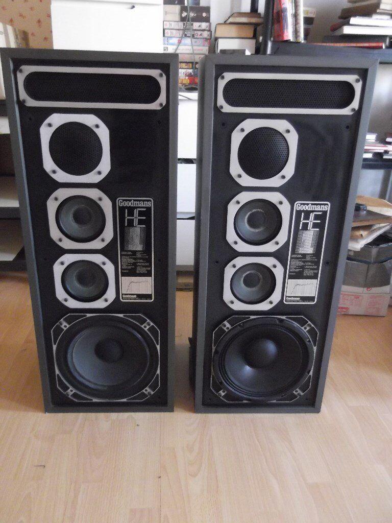 Goodmans He1 High Efficiency Floorstanding Speakers 85 Watts Rms Speaker Diagram And Parts List For Nakamichi Audioequipmentparts Per