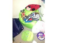 Kids bean bag and toys FREE