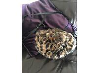 Topshop Faux Fur Pouch Bag