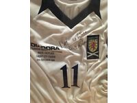 Scotland top signed james McFadden motherwell