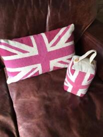 Laura Ashley cushion and doorstop
