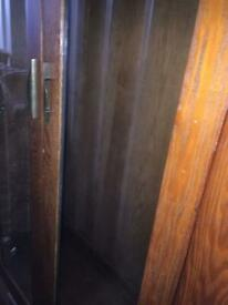 Huge upstanding cabinet glass doors and veneered will post more pics on request .. it locks as well