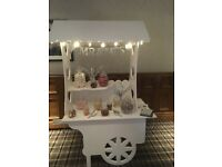 Candy cart hire £50 without sweets £75 with sweets set up free lights banner sweet bags stunning