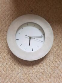 Cream suede clock
