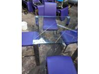 Glass tables and chairs perfect for bar / pub restaurant