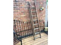 Original Vintage Wooden Barn Loft Ladders