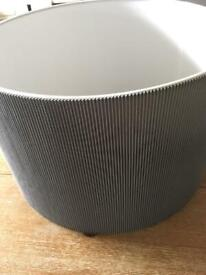 Large grey lampshade