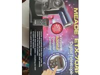 Meade etx 70at telescope with stand & carry case