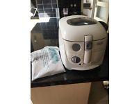 Tassimo coffee machine and DeLongi easy clean deep fat fryer.