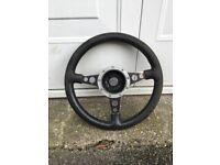 MG Midget Mota-lita leather steering wheel