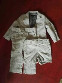 M&S boys cotton/linen suit, 1.5 - 2 years