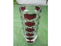 Thick Cut Glass Vase for £7.00