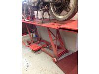 Motorbike hydraulic lift 400kg