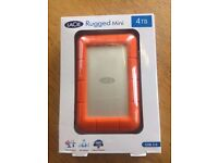 LaCie Rugged Mini 4TB Hard Drive - new, unopened (P&P in UK included)