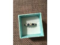 Platinum, Diamond and Sapphire Eternity/Engagement Ring