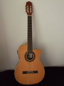 Gear 4 Music Classical Electro Acoustic Guitar