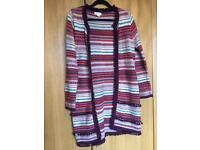 Monsoon size 10 cardigan with pom poms