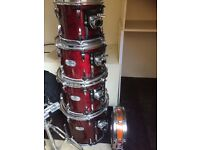 Pearl Session Studio 6 piece Drum Kit + Sabian cymbals + Hardware + Extras